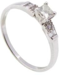 Christian 14 karaat ring met citrien diamanten Wit Goud One size