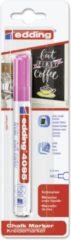 Edding - Krijtmarker e-4095 - Op blister - Neonroze - krijtmarkers - raamstift - raamstiften - chalkmarker – krijtstift – glasstift – schoolbordstift – krijtbordstift – stoepbordstift
