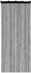 Xenos Spaghetti deurgordijn - zwart - 90x200 cm
