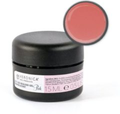 Roze Veronica Nail Products Veronica NAIL-PRODUCTS UV gel builder PINK CLEAR, 15 ml. Het 3 fasen gelsysteem voor gelnagels manicure / pedicure!