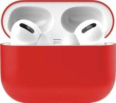Teddo Apple Airpods Pro Siliconen - Case - Hoesje - Geschikt voor Apple Airpods Pro - Rood
