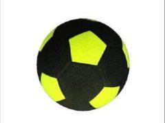 Gele Angel Sports Rubberen straatvoetbal geel maat 5 - met profiel