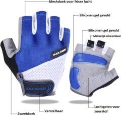 NoraSol Fietshandschoen Heren - Fietshandschoen Dames - Fietshandschoen Unisex - met grip blauw M , MTB, ATB, Race, Handschoen