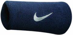 Nike Swoosh Double Wide Wristband Donkerblauw