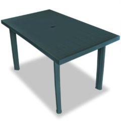 VidaXL Tuintafel 126x76x72 cm kunststof groen