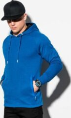 Blauwe Ombre Heren hoodie effen b1080-5