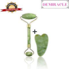 Demiracle Jade Face Roller & Gua Sha Schraper – Gezichtsmassage – Massagetools – Massage - Ontspanning – Kwaliteit