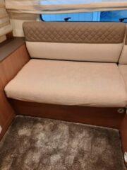 Camper-Diem Bankhoes voor Camper / Mobilhome / Caravan Carré Stretch badstofhoes per stuk kleur Beige universeel model