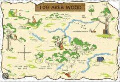 RoomMates Disney Winnie The Pooh 100 Aker Wood Map - Muurstickers - Multi