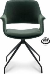 Happy Hair Happy Chairs – Armstoel Paulo – Velvet Hunter Groen