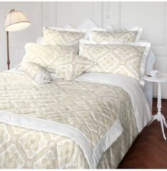 Laura Ashley Nackenrollenbezug Mayhew Natural Satin Laura Ashley weiß-beige