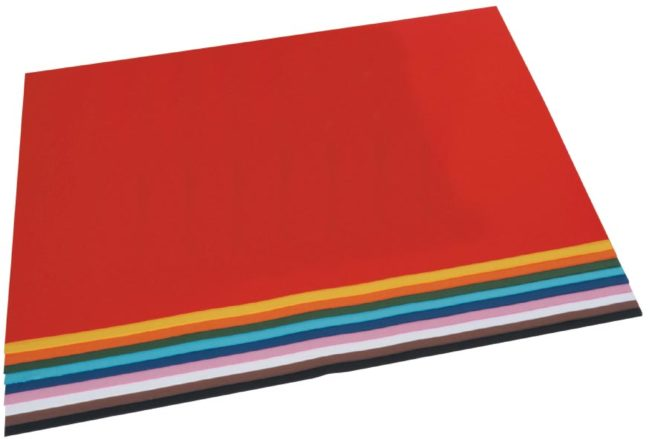 Afbeelding van Tekenpapier Folia gekleurd geassorteerde kleuren