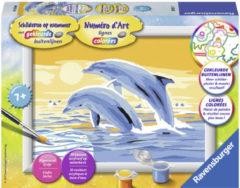RAVENSBURG Schilderset Schilderen Op Nummer Springende Dolfijnen (2400537)