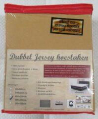 Merkloos / Sans marque DUBBEL JERSEY HOESLAKEN   180X200CM   CAMEL   200GR/M²