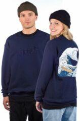 Marineblauwe Rip N Dip Great Wave Sweater blauw