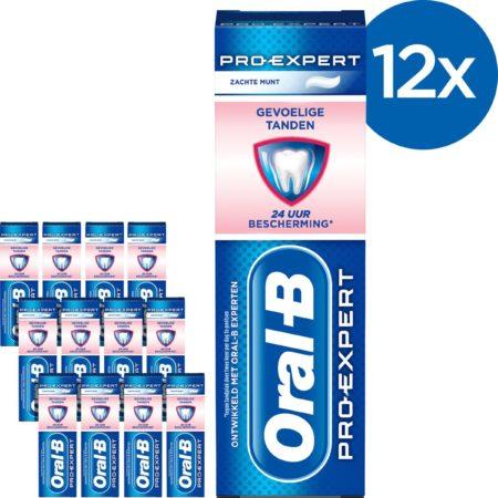 Afbeelding van Oral-B Oral B Pro-Expert Gevoelige Tanden & Whitening - Voordeelverpakking 12x75ml - Tandpasta