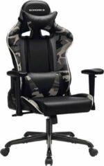 Merkloos / Sans marque Bureaustoel – Gamestoel – Kunstleer – Zwart/Leger – 69x72x138