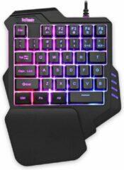 WiseGoods Mini Gaming Toetsenbord - Mini RGB Toetsenbord - RGB Backlight - Mini Gaming Keypad - Plug & Play - Zwart
