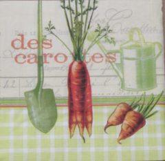 Ppd Servetten Les Carottes 33 x 33 cm