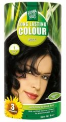 Hennaplus Long Lasting Colour haarkleuring - 01.00 black