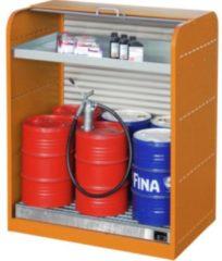 Hausmarke Gefahrstoff-Rollladenschrank mit Auffangwanne und Kleingebindewanne RAL 2000