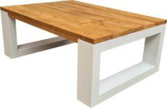 Bruine Wood4you - Salontafel New orleans - Roastedwood 100Lx90Dx43H