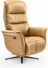 Beige Duverger® Dreamline - Relaxfauteuil - caramel - microleder - elektrisch verstelbaar - met batterij - Afm: 66 cm