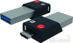 Zwarte Emtec Mobile & Go 8GB 8GB USB 3.0 (3.1 Gen 1) USB-Type-A-aansluiting Zwart, Zilver USB flash drive