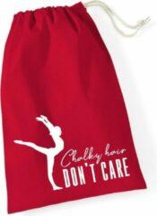 Sparkle&Dream Leertjes/Lusjes Tasje 'Chalky Hair' Rood, voor turnen en gymnastiek
