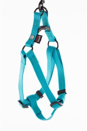 "Afbeelding van Blauwe ""Martin sellier"" ""Martin sellier instap tuig voor hond nylon turquoise 15 mmx30-50 cm"""