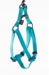 "Blauwe ""Martin sellier"" ""Martin sellier instap tuig voor hond nylon turquoise 15 mmx30-50 cm"""