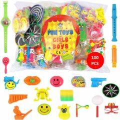 Huismerk 100 Stuks XXL Mix -Traktatie Uitdeelcadeautjes voor Kinderen - Grabbelton Cadeautjes - Klein Kado Speelgoed - Jongens - Meisjes