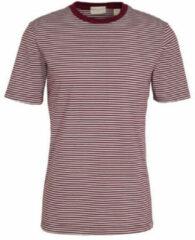 Donkerrode Scotch & Soda T-shirt Gestreept Bordeaux (160847 - 0221)