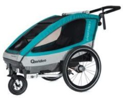 Qeridoo Sportrex1 Fahrradanhänger Modell 2018 aquamarin