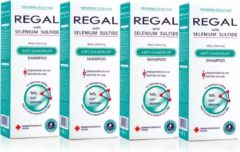 Rosa Impex 4 x REGAL DIEP REINIGENDE ANTI-ROOS Shampoo met Selenium Sulfide voor Normaal en Vet Haar Set4 800ml