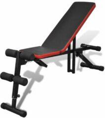 Zwarte VidaXL Sit-up bankje verstelbaar en multifunctioneel