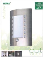 Witte Smartwares Ranex 5000.086 Messina - Buitenverlichting - Gevelverlichting - Met bewegingsmelder