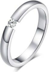 Zilveren Cilla Jewels edelstaal ring Crystal Silver-15mm