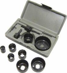 Merkloos / Sans marque Gatenzaag 11 delig Hole Saw set gereedschap box 19 22 28 32 38 44 51 en 64 mm