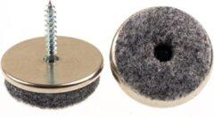 Verlofix Viltglijder Met Schroef Diameter 30mm Chroom 4 Stuks
