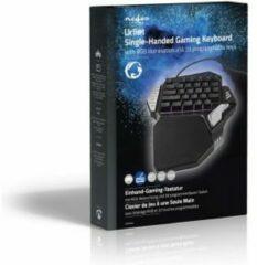 Nedis Single-Handed Gamingkeyboard RGB-Verlichting 33 Programmeerbare Toetsen