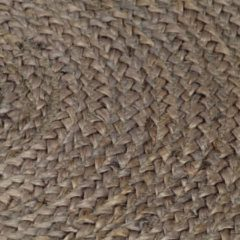VidaXL Vloerkleed handgemaakt rond 90 cm jute grijs