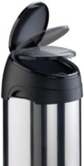 Afvalbak Ronde afvalbak met touchdeksel 40 liter, chroom/zwart