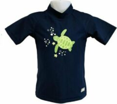 Marineblauwe Banz Shirt Rash Met Korte Mouwen Junior Turtle Navy 92 Cm