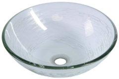 Transparante Waskom Sapho Beauty Rond 42 cm Helder Glas