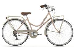 Cicli Cinzia 28 ZOLL CINZIA NOVECENTO CITY FAHRRAD 6-GANG Citybike Damen grau-pink