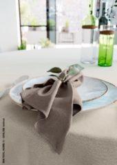 Mistral Home - set van 4 servetten - katoen polyester - 43x43 cm - bruin