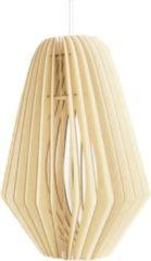 Bruine Bomerango Spin hanglamp - Hout - Extra large Ø 50 cm - Koordset wit