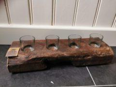 Naturelkleurige Dijk Naturel Collections Vintage - Kaarsenhouder - gerecycled hout