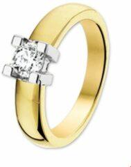 Quickjewels huiscollectie Huiscollectie 4204986 Bicolor gouden ring met diamant 0.25 crt